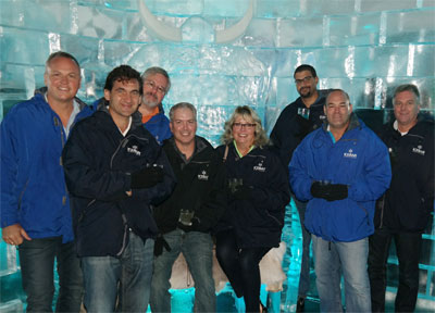 Friends in Icebar at Graph Expo 2016